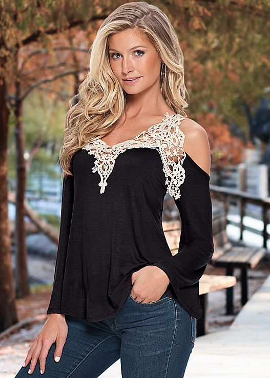 bf74d3f7679bf Trending now  crochet looks! The top that s perfect for your next family  outing or shopping day! Also available in red and in sizes XS-XL! Tops -  Cute ...