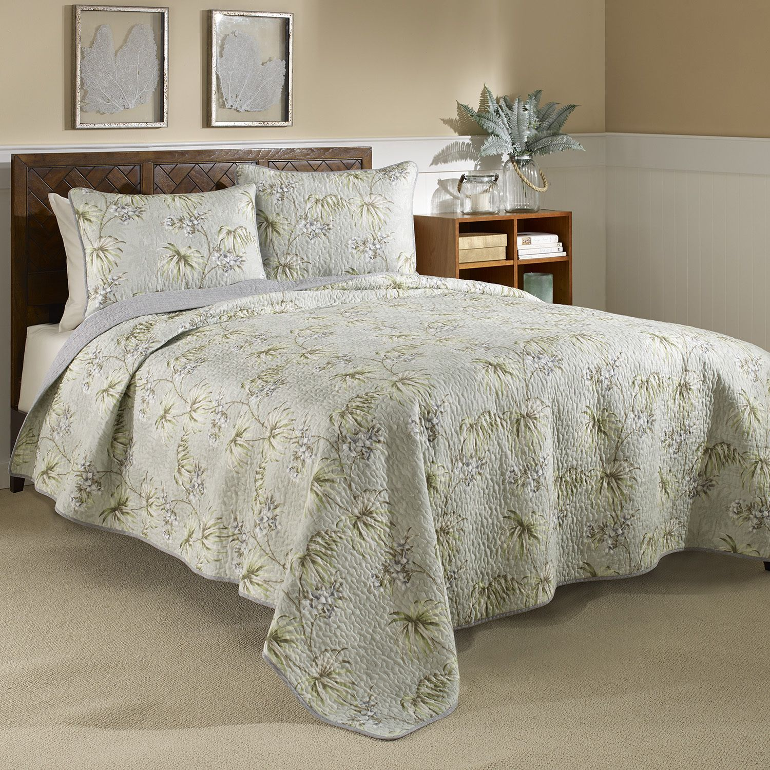 This Beautiful Bedding By Tommy Bahama Is Sure To Enhance