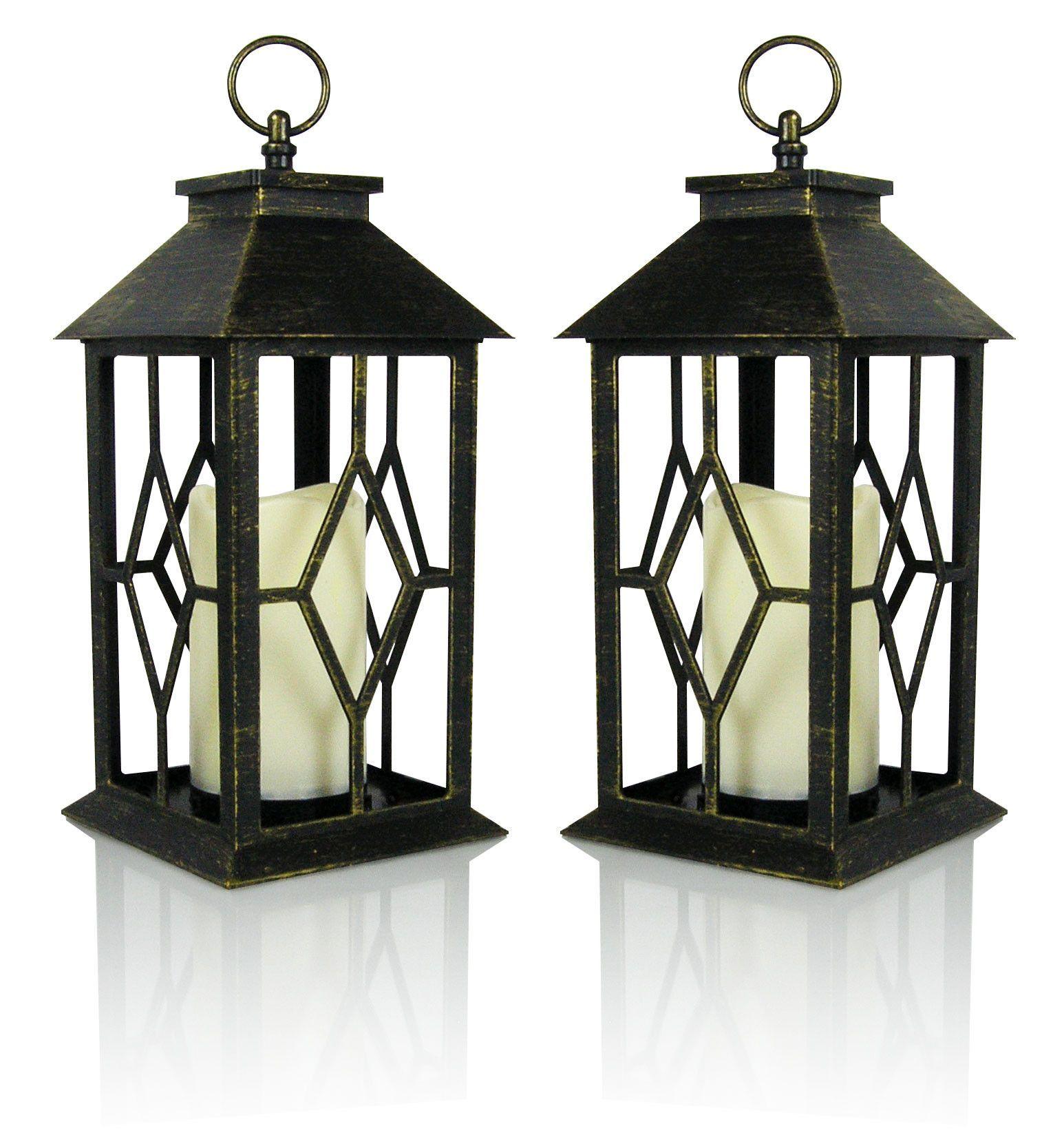 Banberry designs decorative lanterns set of antique bronze