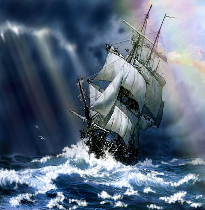 Pin by Chappy Debbie Mitchell on Ships, Sailing and the occasional Pirate!  | Sailing tattoo, Tall ships, Sailing