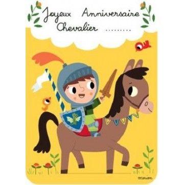 carte anniversaire chevalier