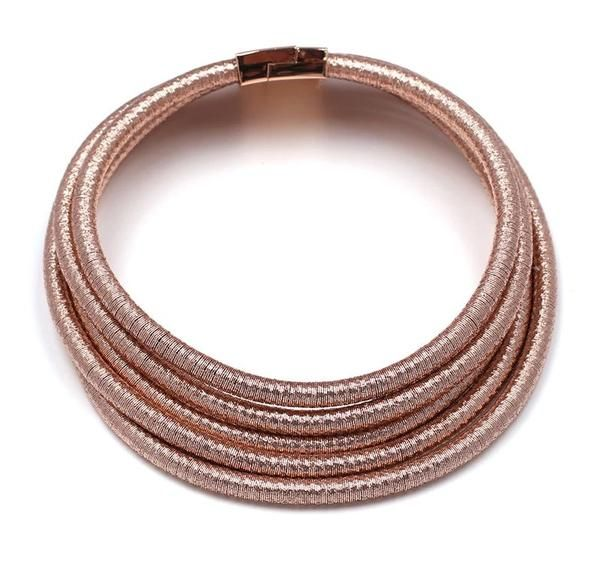 'Rose' Choker'  Upgrade your look flawlessly with our 'Rose' Gold' choker. Let this piece add a bit of luxury to your day or night look. We promise it will be a favorite piece of yours for sure!