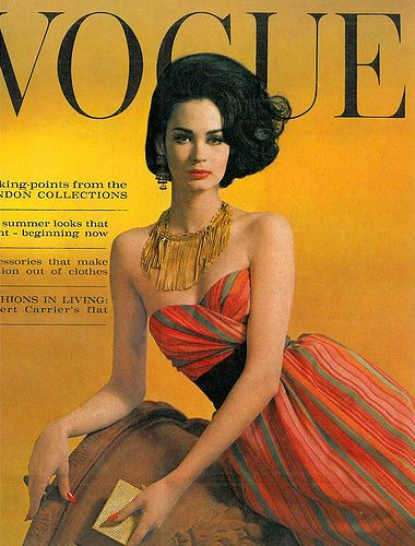 Marie-Lise Gres, cover by Eugene Vernier for Vogue UK, March 1962