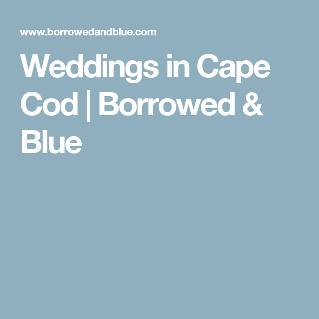 Weddings In Cape Cod