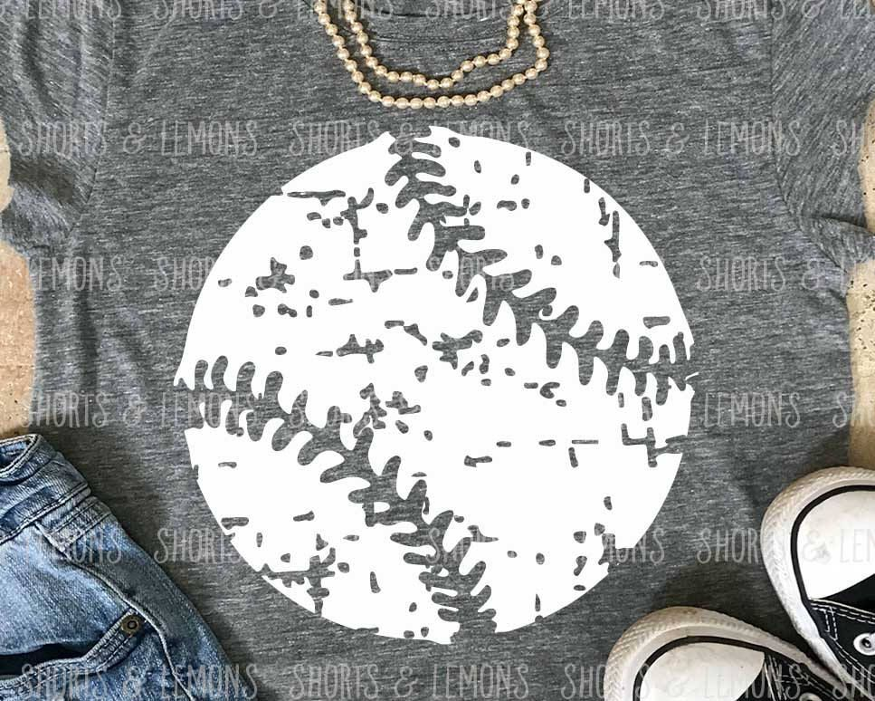Baseball Svg, Baseball Mom, Distressed Baseball Svg, Dxf