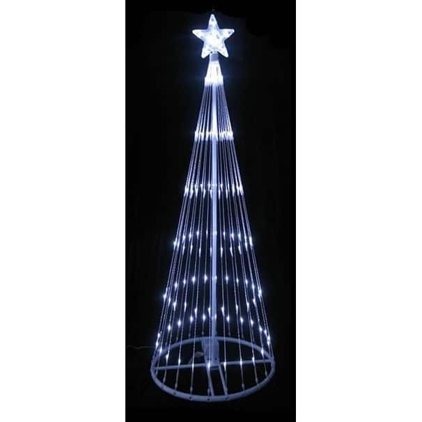 12' Pure LED Light Show Cone Christmas Tree Lighted Yard Art Decoration
