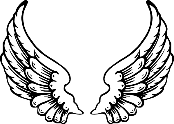 angel wings template angel wings clip art vector clip art online rh pinterest ca wind clip art border wings clipart