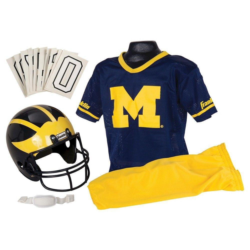 finest selection ba271 ab3b2 Franklin Sports Team Licensed NCAA Deluxe Football Uniform Set,