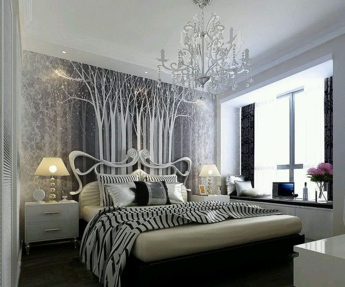 Elegant Silver and Black Bedroom Ideas for Woman with