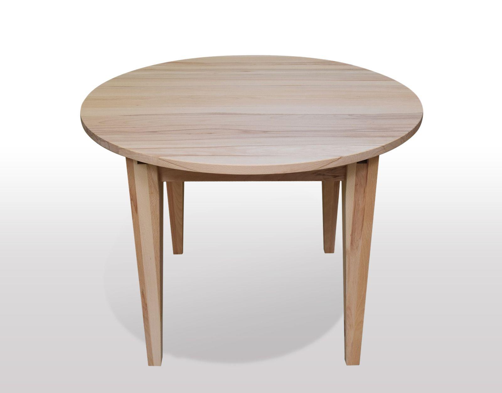 runder esstisch aus kernbuche massiv ausf hrung als 4 bein esstisch mit konischen beinen. Black Bedroom Furniture Sets. Home Design Ideas
