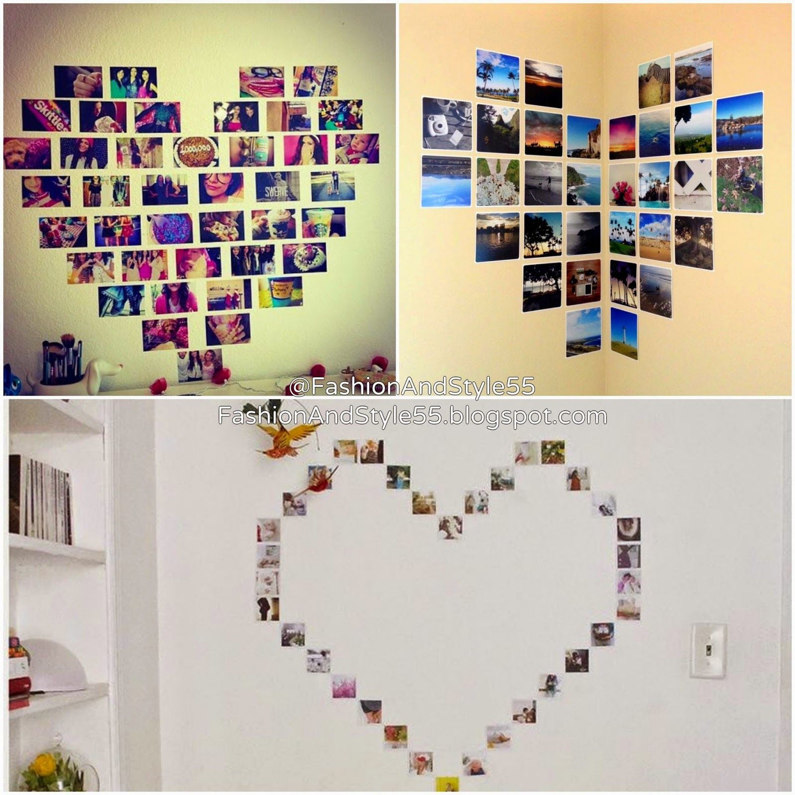 diy photos heart wall display 3 different ways blogs from