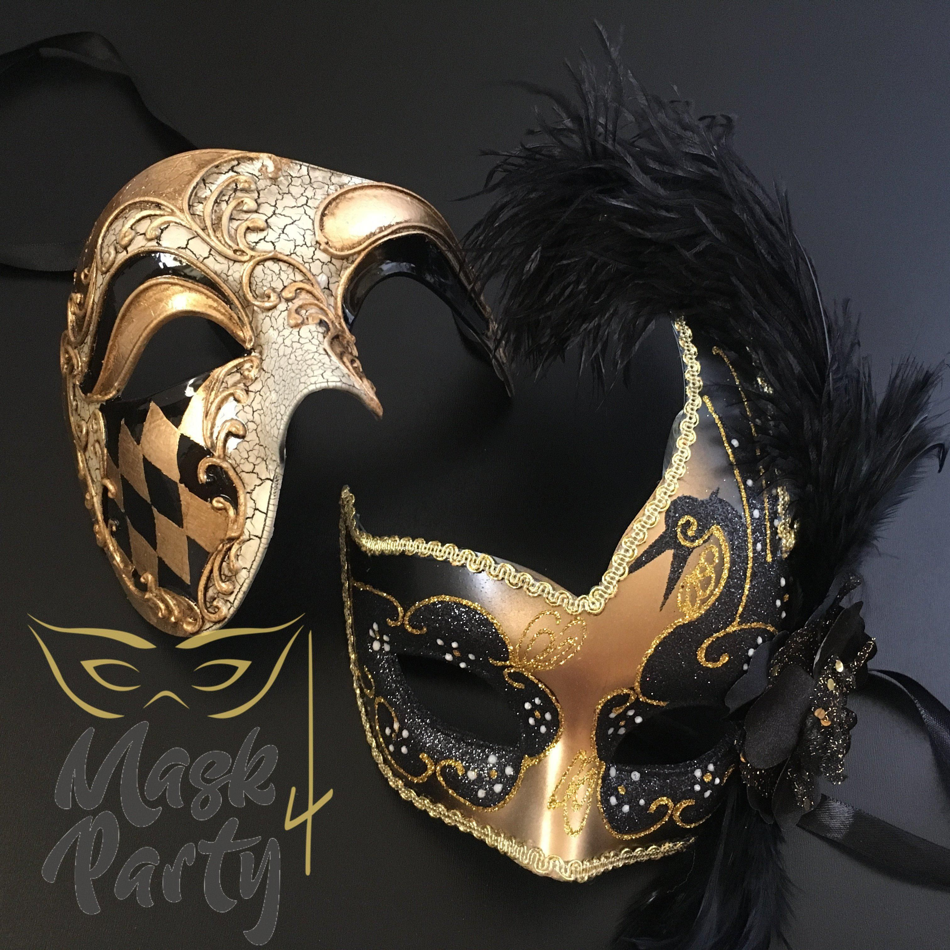Silver Accent Phantom Of The Opera /& Venetian Masquerade Prom Feather Masks