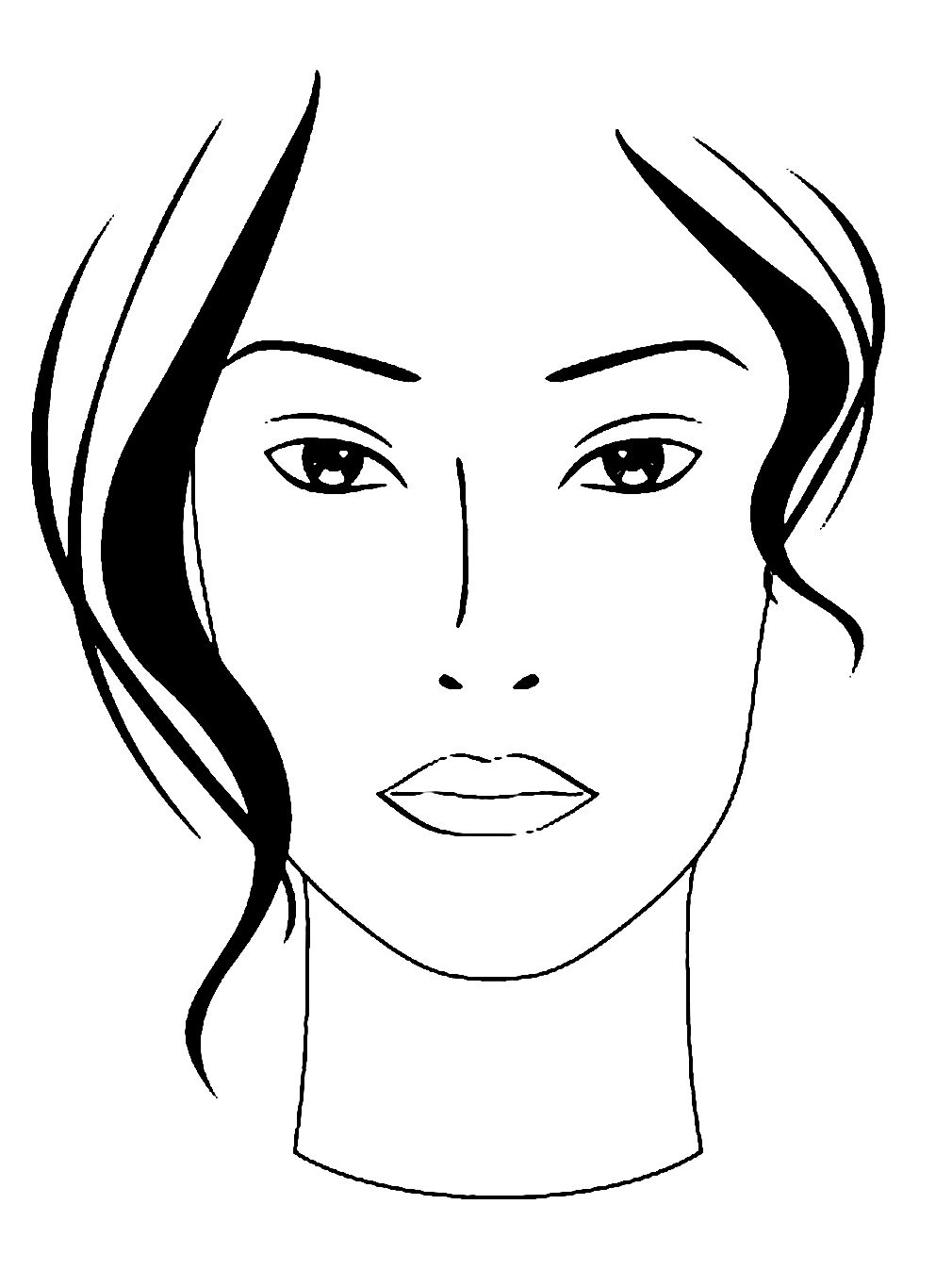 Blanco Facecharts To Create Makeup Looks On Paper Great For Makeup School Or Moodboards Print On Watercolor Paper For T Curso De Maquillaje Dibujos Imagenes