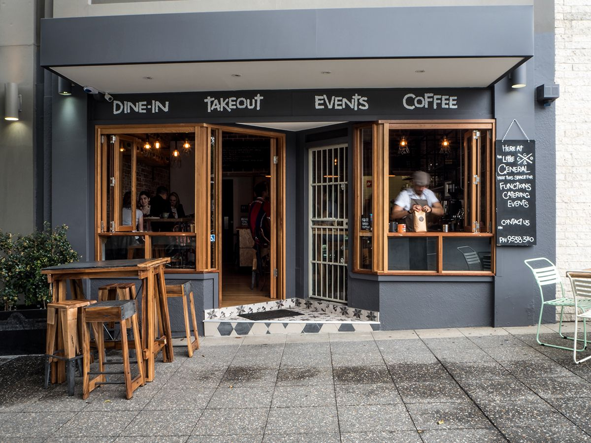 The Little General Espresso Bar On Behance ファサード 建築 カフェ内装