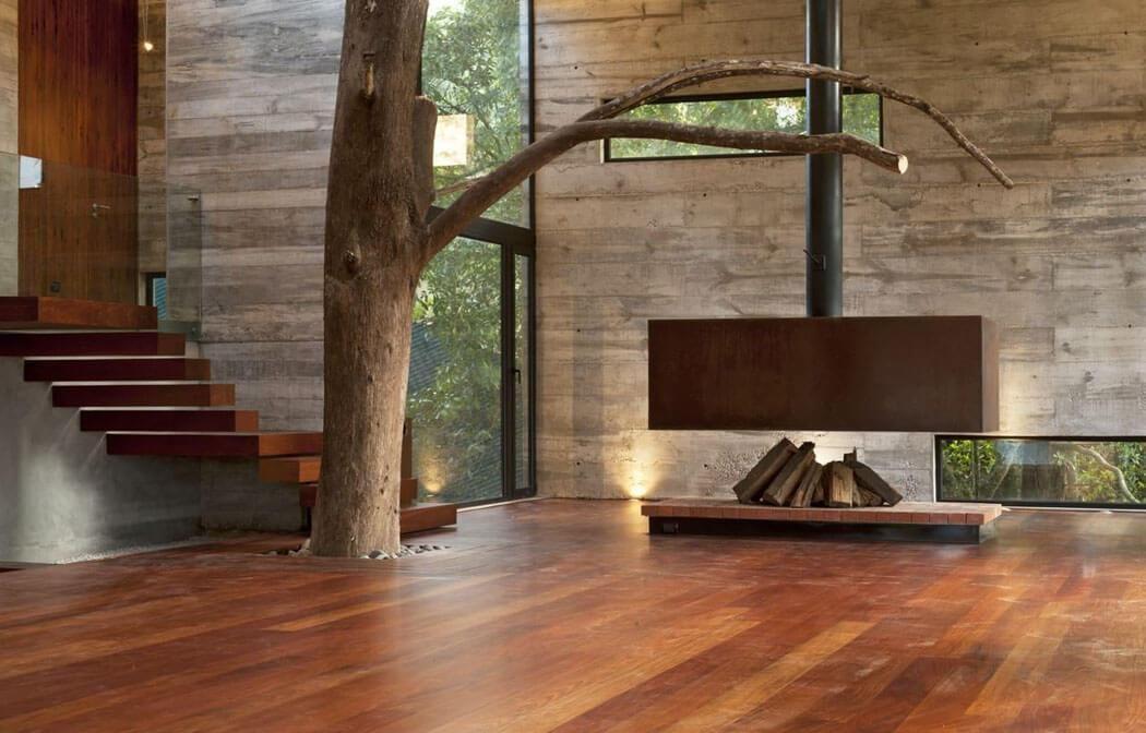 Belle maison darchitecte au design intérieur simple et épuré