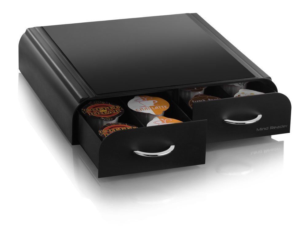 Anchor Coffee Pod Storage Drawer For Timo T Discs Vertuoline Capsules Black Mindreader