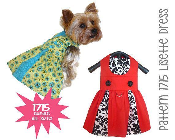 Lisette Dog Dress Pattern 1715 Dog Clothes Patterns Dog