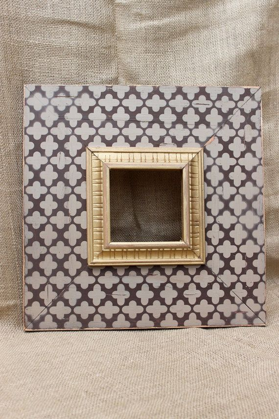5x5 Clover Wood Distressed Hand Painted PIcture Frame, ANY colors ...