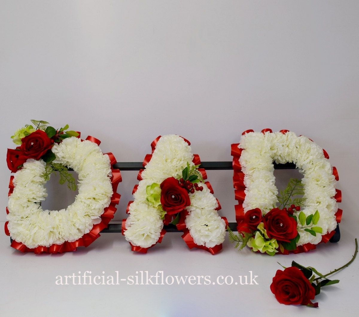 Artificial funeral flowers dad tribute with single rose included by artificial funeral flowers dad tribute with single rose included by artificialdesign on etsy izmirmasajfo