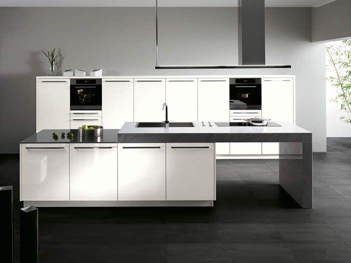 Kookeiland Wit Hoogglans : Witte keuken foto s en inspiratie interieurvoorbeelden be
