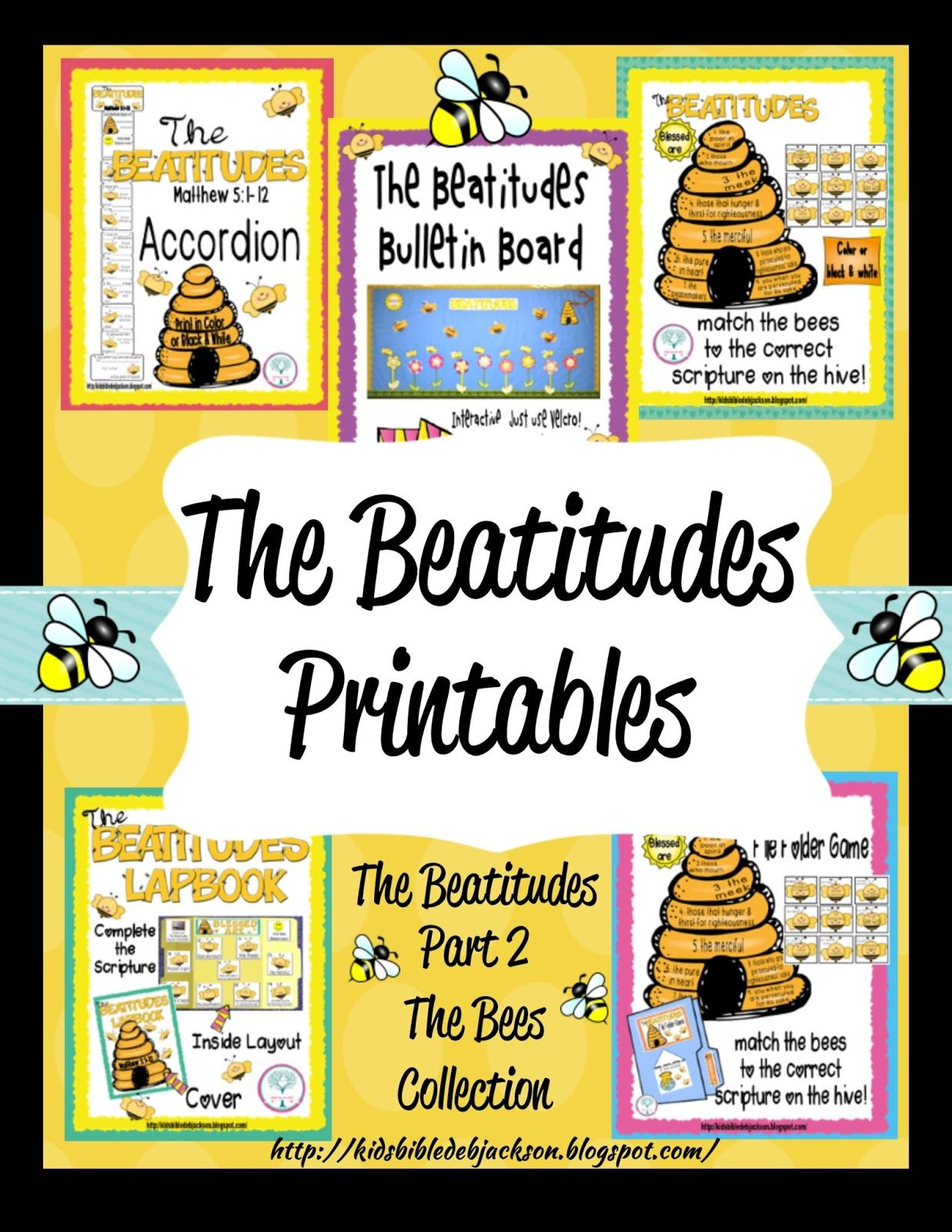 The Beatitudes Bee Attitudes Bulletin Board Amp More