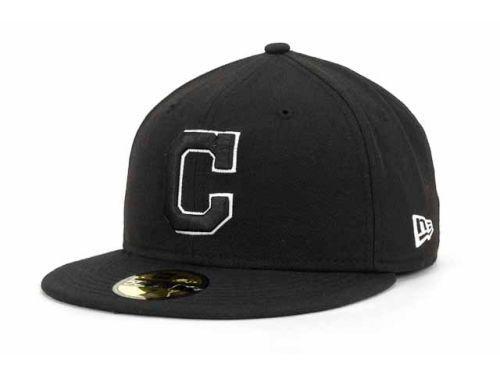 newest 079f1 d72bb ... switzerland cleveland indians new era mlb black and white fashion  59fifty cap hats 2195e 717f8