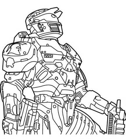Halo Coloring Pages And Book Uniquecoloringpages Halo Drawings
