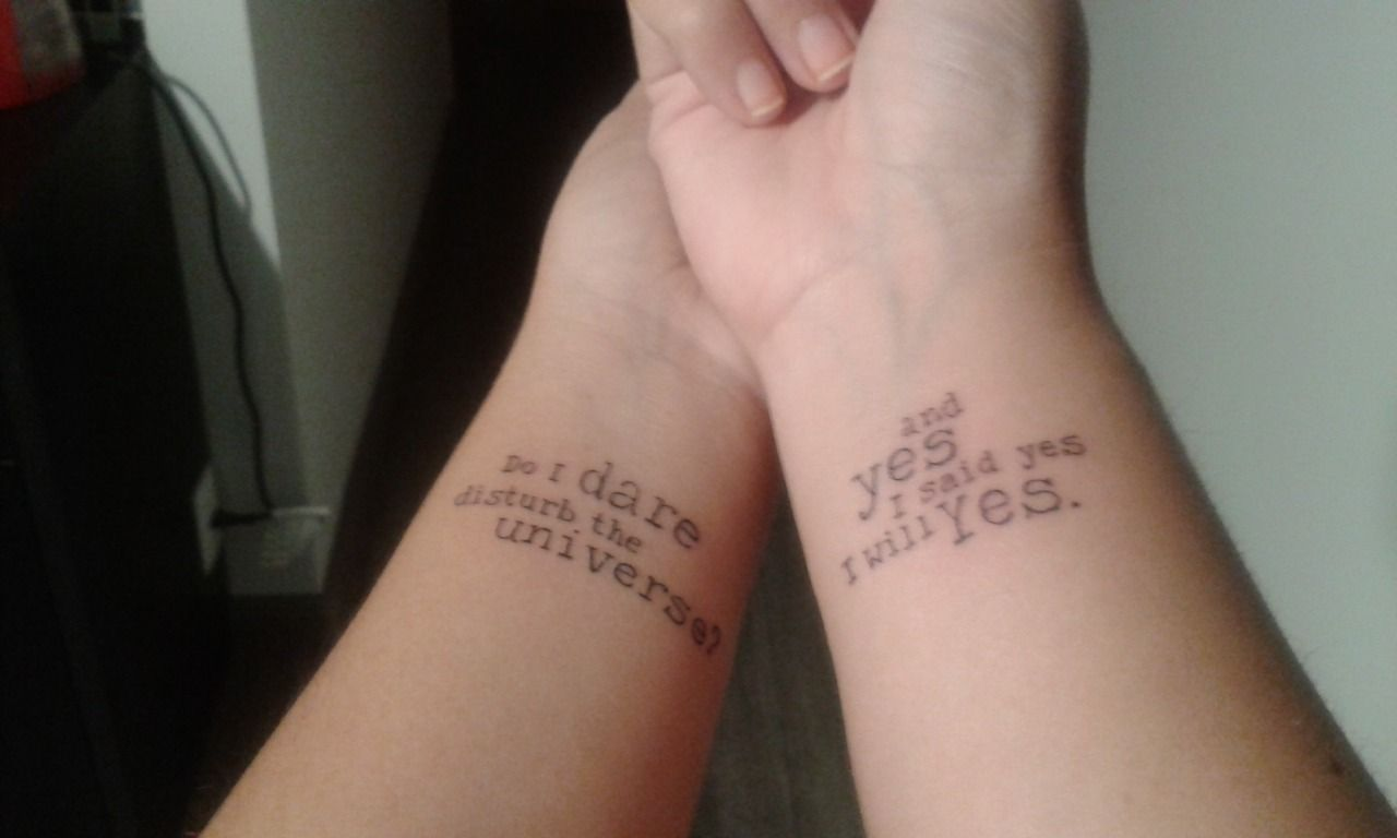 The Love Song Of J Alfred Prufrock T S Eliot Ulysses James Joyce Tattoos For Lovers Tattoo Styles Love Songs