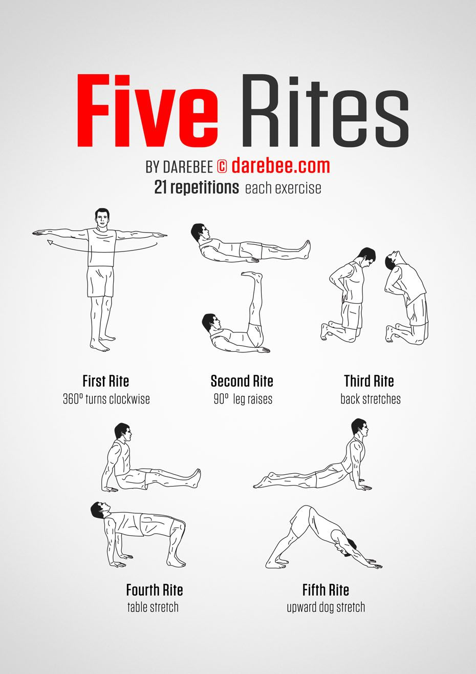 Five Rites Workout  Darebee  Work it  Yoga Yoga