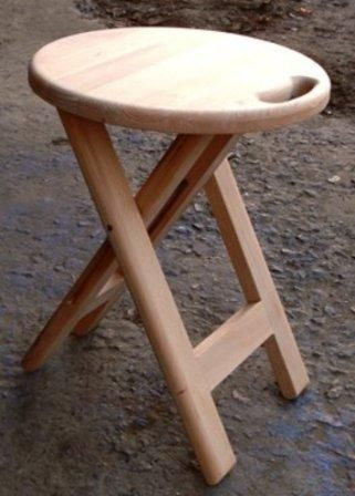 Taburete plegable con sus propias manos | madera | Pinterest ...