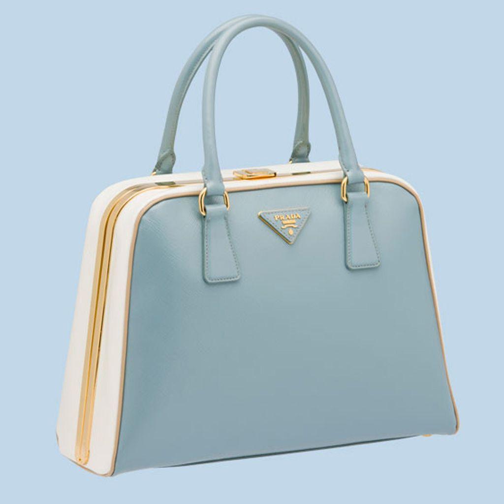 f566cca38a51 Prada Pyramid Frame Bag BL0808 - Blue White   Prada   Bags, Prada ...