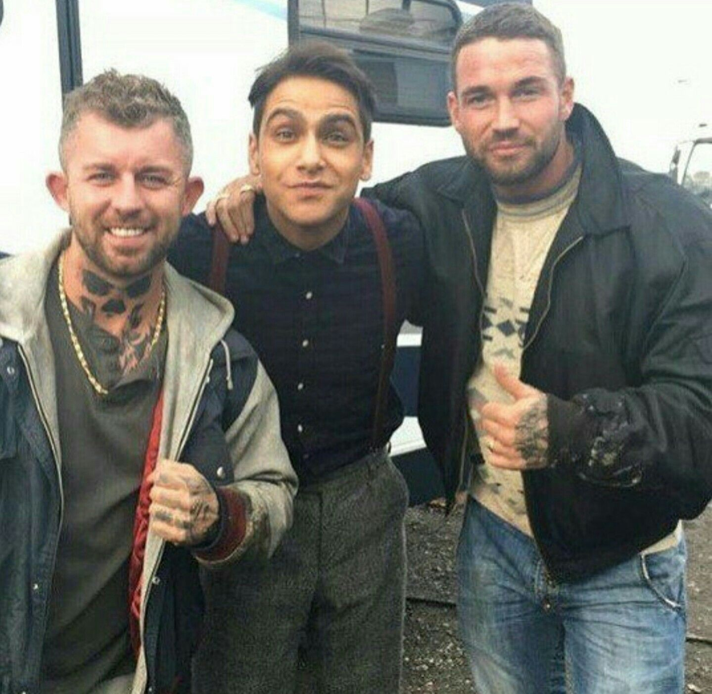 Hanging with some of the chaps from Snatch..