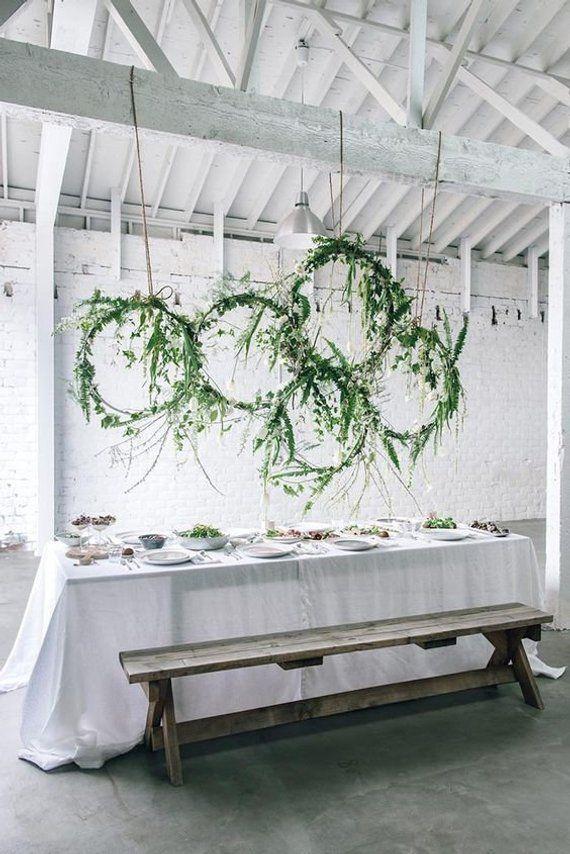Photo of Set of 3 wood hoop wreath / wedding decoration / wedding decoration / boho …