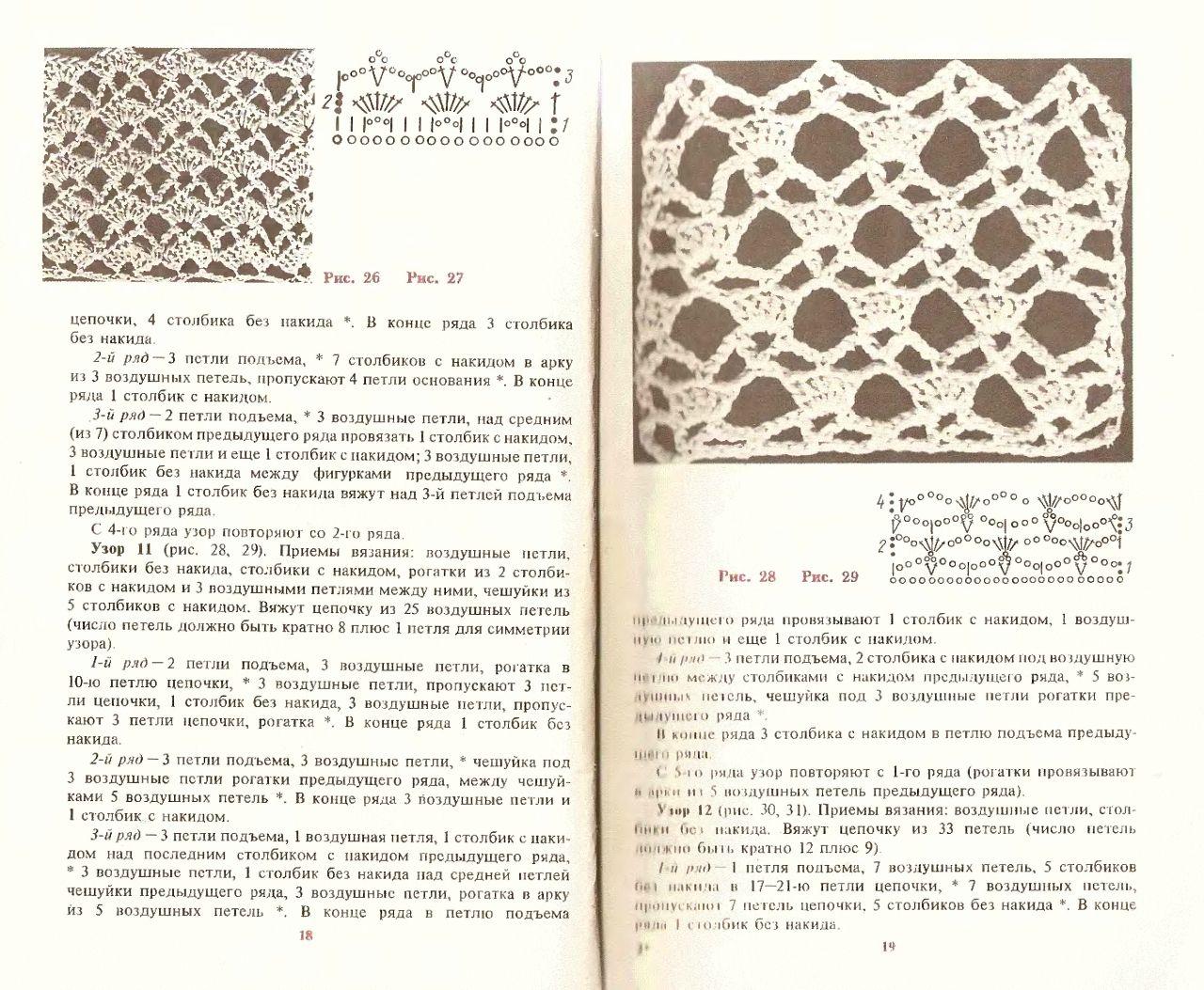 Альбом-книга «Вязание узоров крючком» /год выпуска 1987 ...
