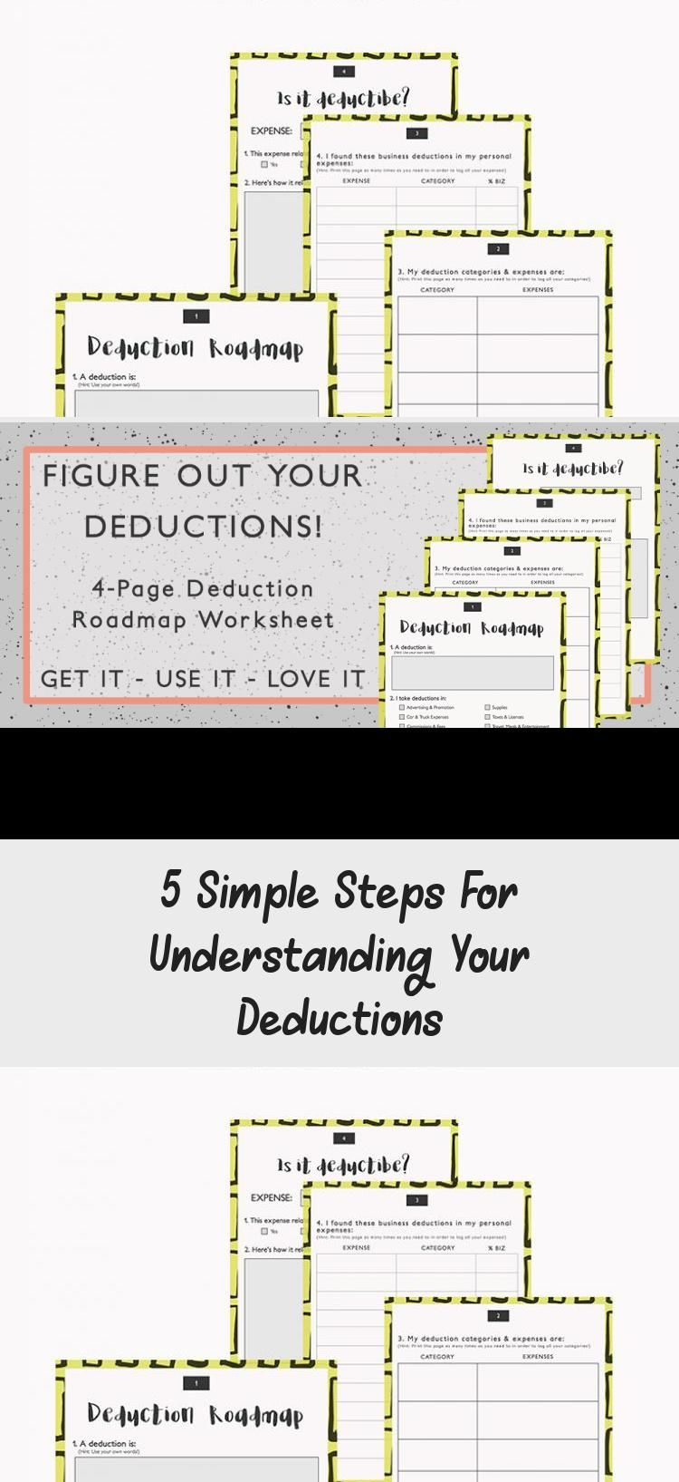 Having Self Employment Deduction Overload Learn 5 Easy Steps To Understanding Your Tax Write Offs Plus You Ge Understanding Yourself Deduction Tax Write Offs