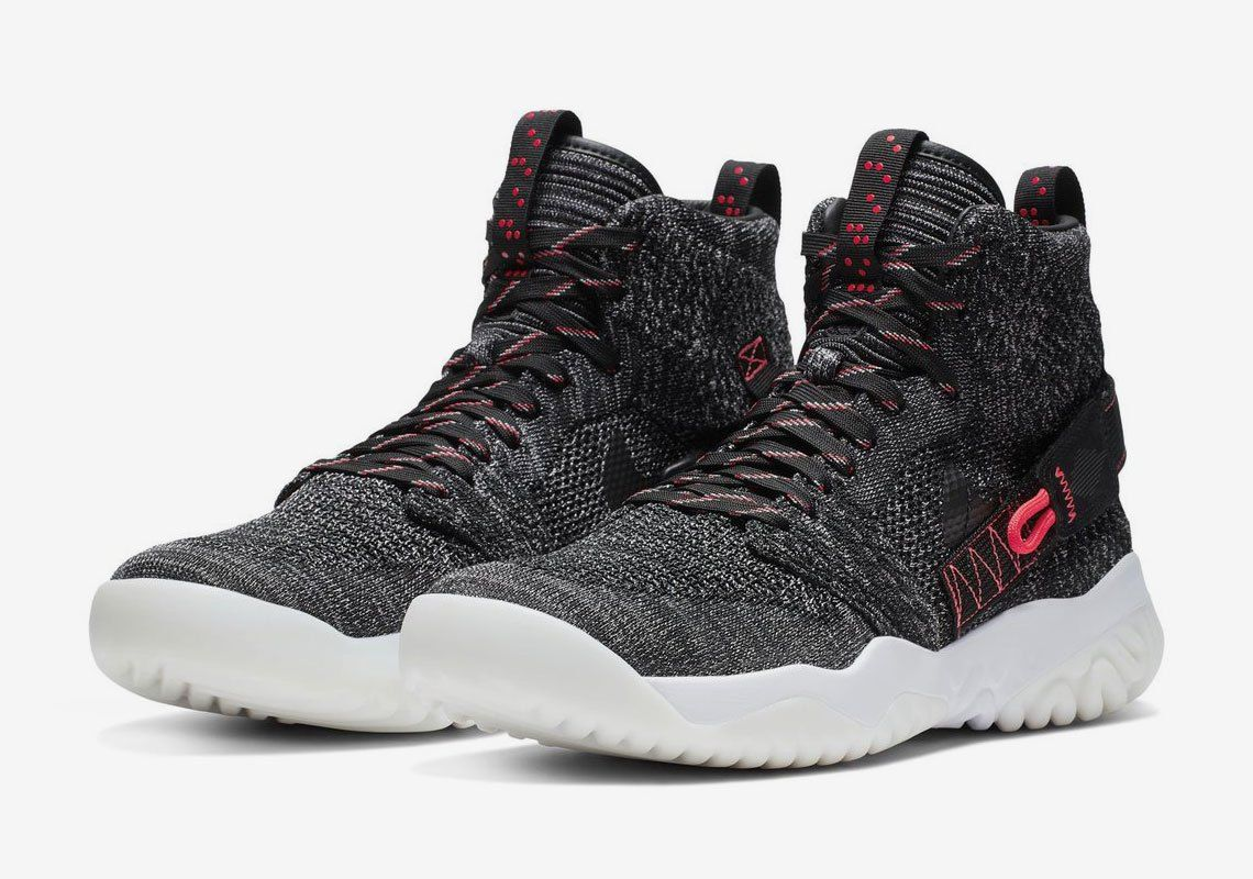 80cd18a072cc Jordan Apex React Heather Grey Crimson Release Info  thatdope  sneakers   luxury  dope  fashion  trending