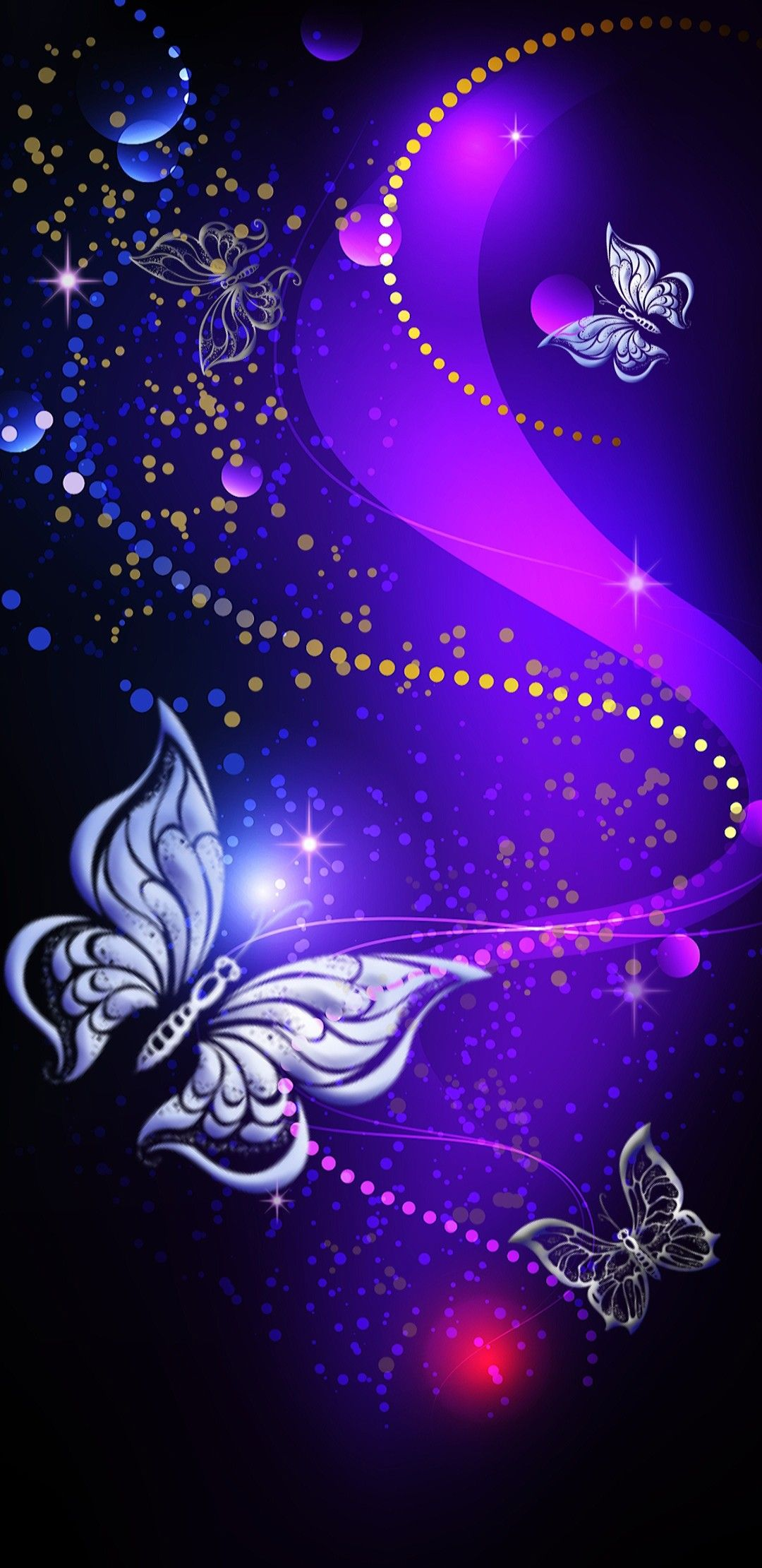 Black Purple Background With Butterfly Beauty Iphone Wallpaper Butterfly Background Butterfly Art