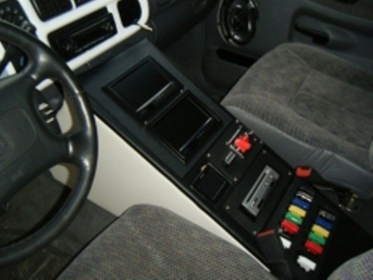 here is a cool center console for a 2nd gen dodge ram truck center console