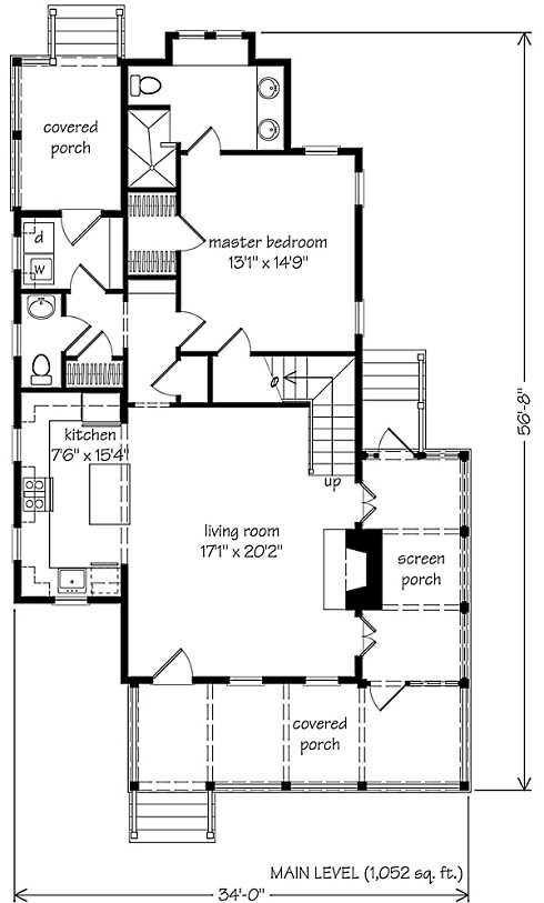 Small Cottage Plans Farmhouse Style sqft footprint