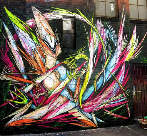Street art in Melbourne, Australia, by Shida. Photo by Shida.