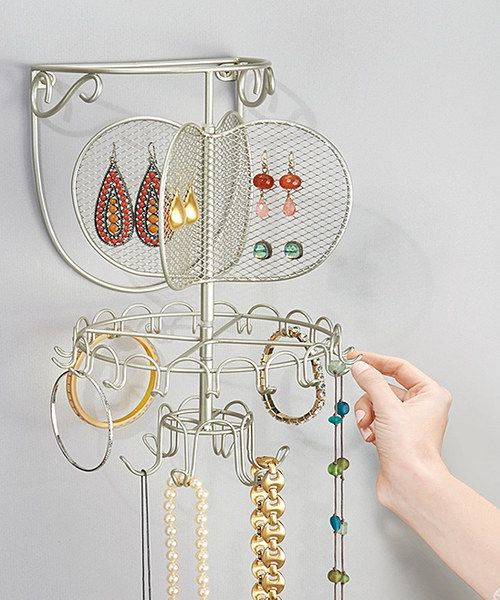 Look at this Silver Classico Wall Mount Spinning Jewelry Organizer