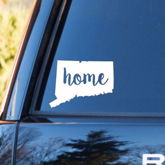 Connecticut home decal connecticut state by mmvinylcreations re pin by paradisoinsurance paradisoins