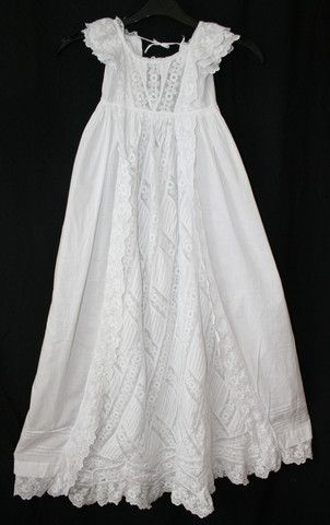 Antique Christening Gown Circa 1840 S Broiderie Anglaise Lace