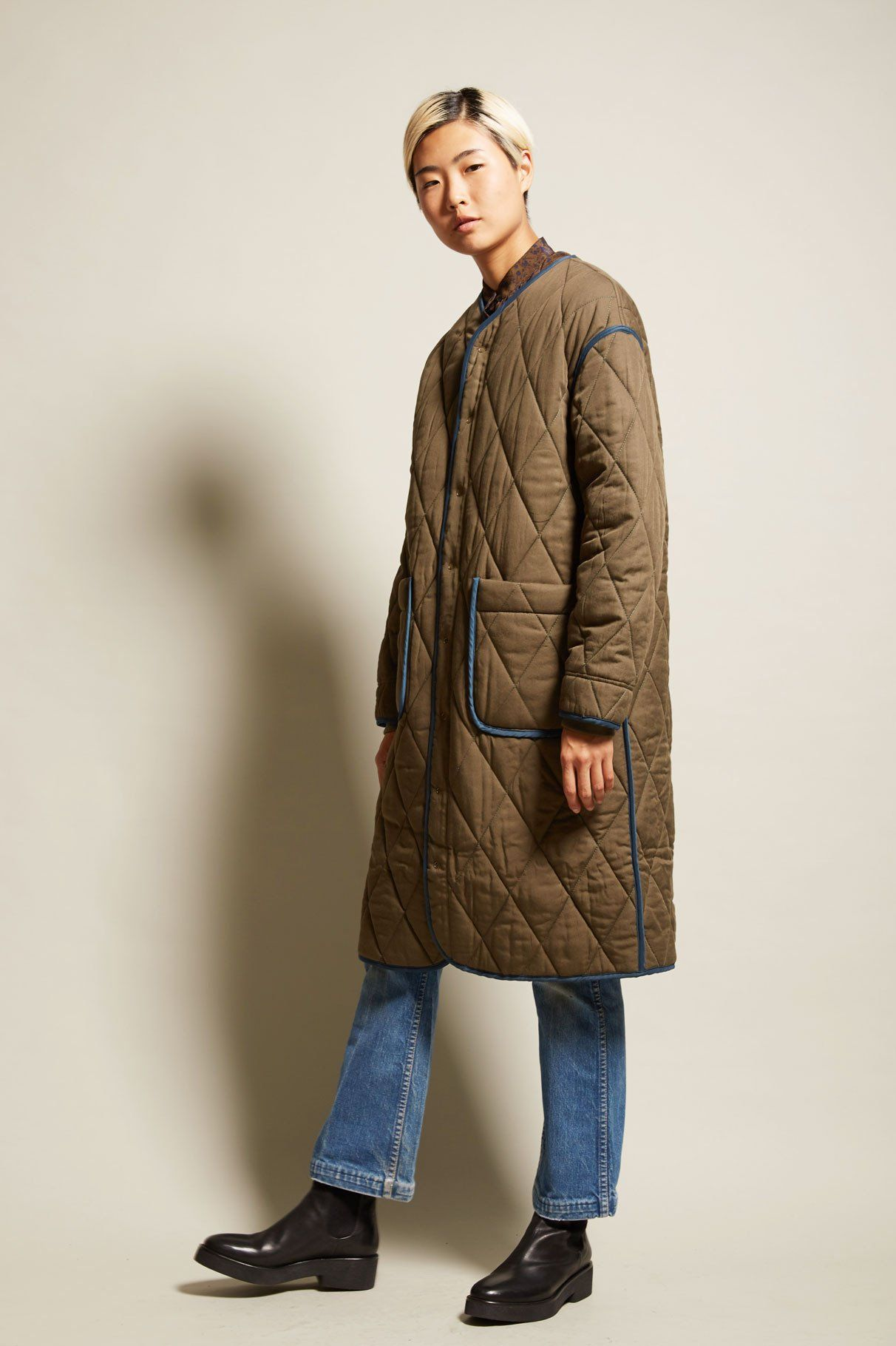 StandAlone Reversible Quilting Coat in Khaki | New Arrivals ...