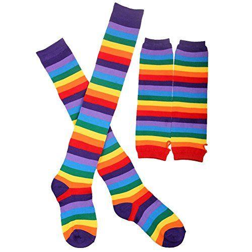 447585cca6e 2017 New Fashion. WRISTCHIE Women s Rainbow Stripe Fingerless Long ...
