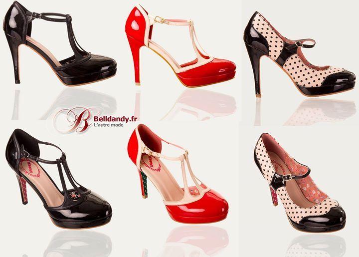 bdee35d3e7b75 Noir Rouge ou Beige à Pois   Retour en stock - Chaussures Escarpins Pin-Up