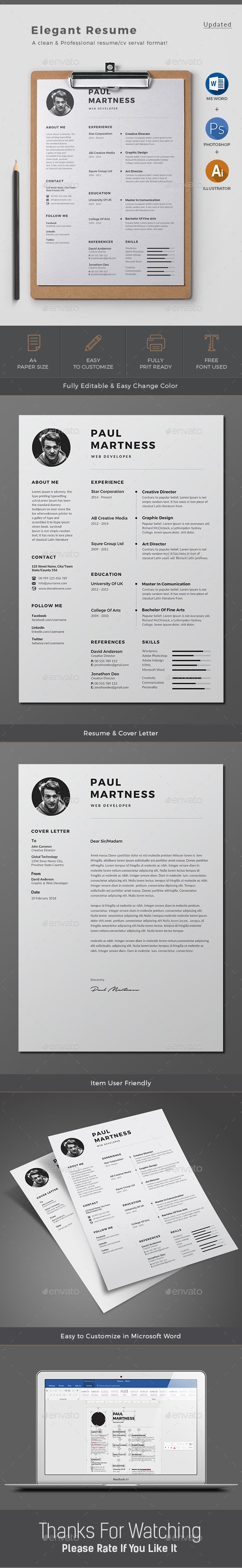 Resume  Business Cv Template And Template