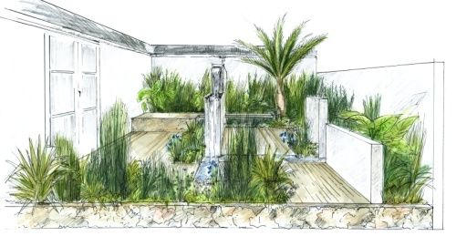 Simple Landscape Design Drawings
