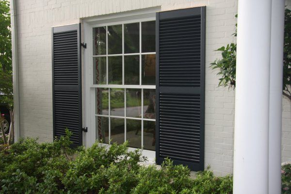 Here are some wide black exterior shutters. | Beach House Exterior ...