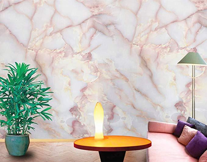 Amao Amber Pink Granite Look Marble Effect Counter Top Film Vinyl Self Adhesive Peel Stick Wallp Marble Effect Wallpaper Peel And Stick Wallpaper Marble Effect